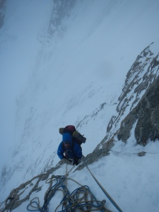Ben on the first M6 pitch.